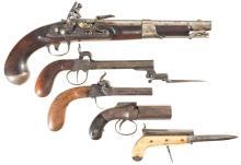 Five Antique Handguns