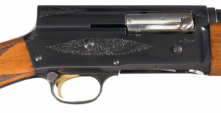 Engraved Belgium Browning Sweet Sixteen Auto-5 Semi
