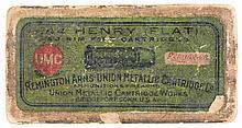 Box of Remington Arms-Union Metallic Cartridge Company .44 Henry Flat  Rim Fire Cartridges