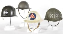 Four American Military Style Helmets