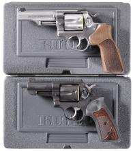 Two Ruger GP 100 Double Action Revolvers