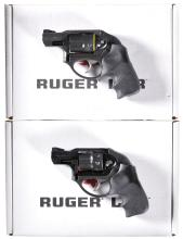 Two Ruger LCR Double Action Revolvers