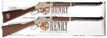 Two Henry Repeating Arms Rifles