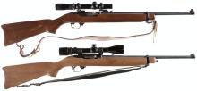 Two Ruger Semi-Automatic Carbines