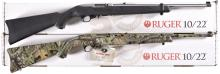 Two Ruger Semi-Automatic Rifles -