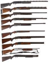 Ten Shotguns -A) Benelli M1 Super 90 Semi-Automatic Shotgun