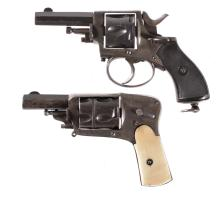 Two Revolvers -A) Belgian Double Action Revolver