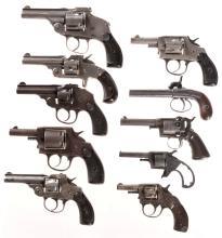 Ten Handguns -A) Hopkins & Allen Top Break Double Action Revolve