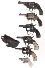Six Double Action Revolvers -A) U.S. Revolver Co. Top Break Revo