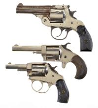 Three Revolvers -A) Thames Arms Co. .38 Top Break Double Action