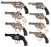 Eight Double Action Revolvers -A) Iver Johnson Safety Automatic