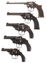 Five Double Action Revolvers -A) Harrington & Richardson Model 1