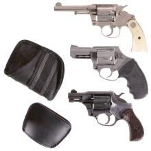 Three Double Action Revolvers -A) Colt Model Police Positive Rev