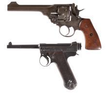 Two Military Hand Guns