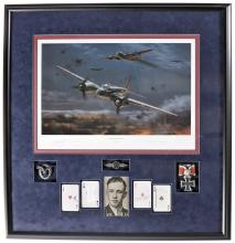 Framed Presentation of Nazi Flying Ace Major Paul Zorner