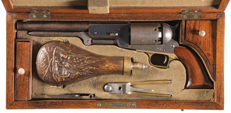 Lot 60: Cased Colt Model Colt Civilian Walker Revolver