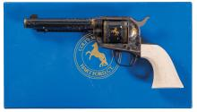 Factory Engraved Colt Single Action Army Revolver with Box