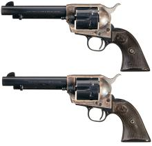 Pair of Consecutive 2nd Gen Colt Single Action Army Revolvers