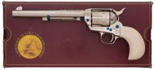 G. Spring Engraved Colt Single Action Army with Bird's Head Grip