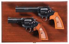 Cased Set of Concecutively Numbered Colt Boa 357 Revolvers