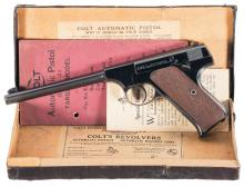 Colt Pre-Woodsman Target Model Semi-Automatic Pistol with Box