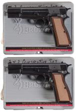 Two Browning Hi-Power Pistols with Cases A) Browning Hi-Power