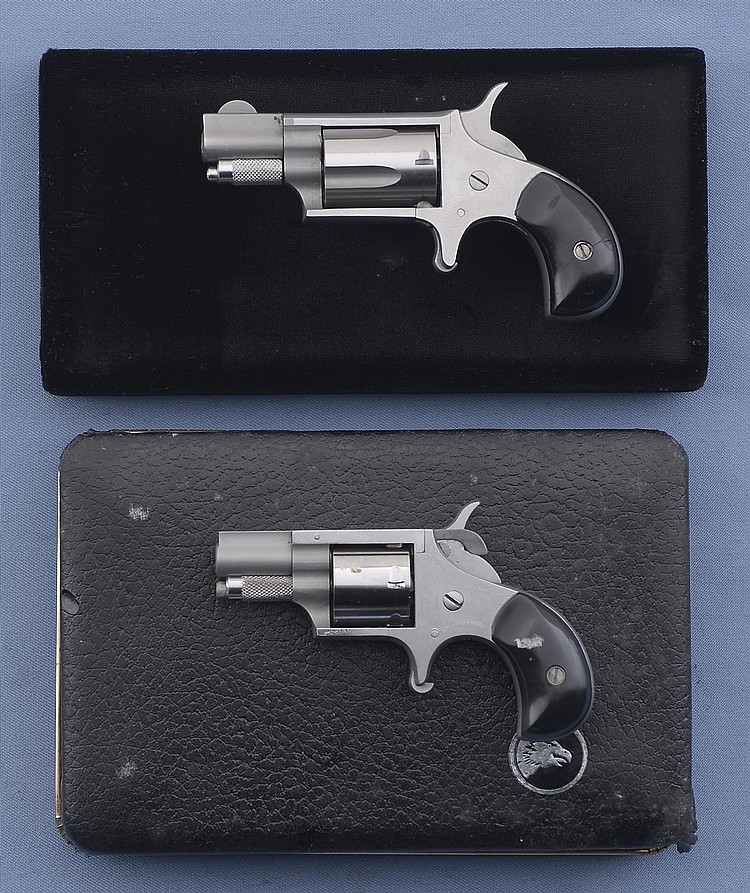 Two North American Arms Single-Action Spur Trigger Revolvers