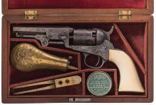 Factory Engraved Colt Model 1849 Pocket Percussion Revolver