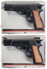 Two Browning Hi-Power Semi-Automatic Pistols with Cases