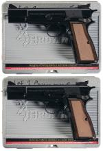 Two Consecutively Serialized Browning Hi-Power Pistols