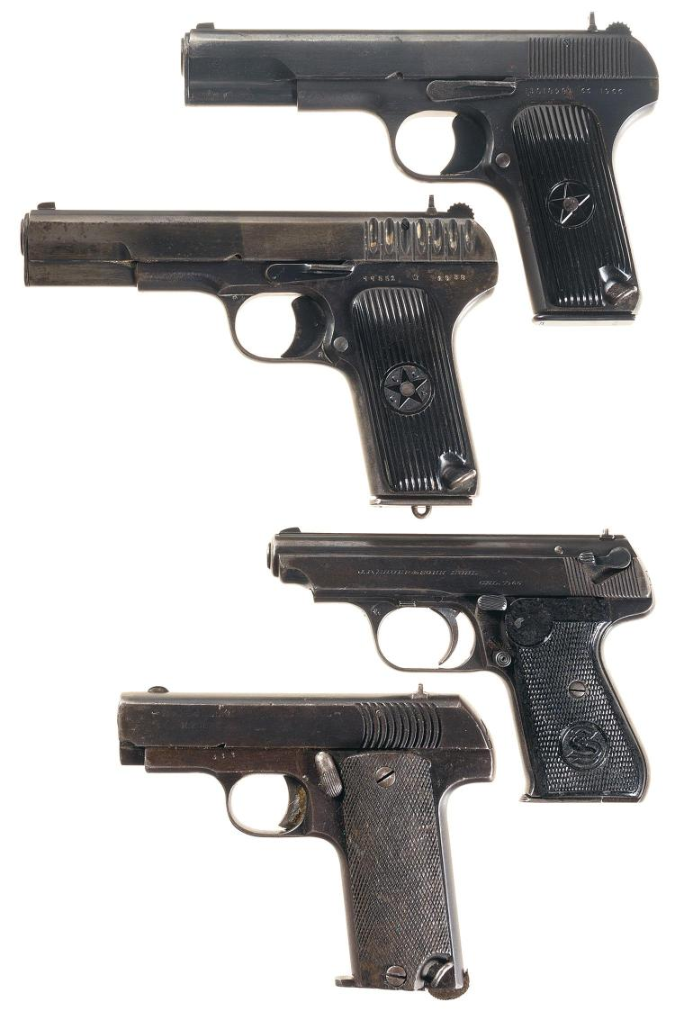 Four Semi-Automatic Pistols -A) Chinese Type 54 Pistol