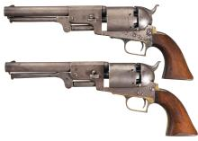 Extremely Scarce Pair of Colt First Model Dragoon Revolvers