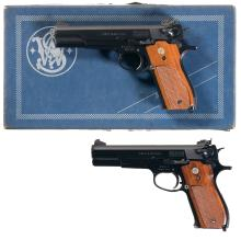 Two Smith & Wesson Model 52 Semi-Automatic Pistols