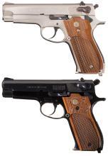 Two Smith & Wesson Model 39 Semi-Automatic Pistols
