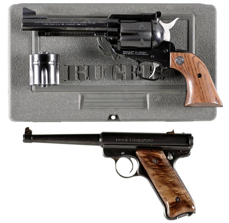 Two Ruger Handguns -A) Ruger New Model Blackhawk Single