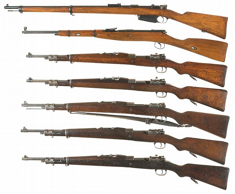 Seven Military Bolt Action Rifles -A) Mauser Model 1891 Argentine