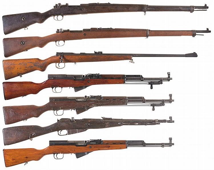 Seven Military Long Guns -A) Turkish Model 98 Mauser Bolt