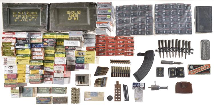 Large group of assorted ammunition for Amo manufacturing spain