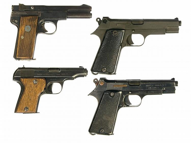Four European Semi-Automatic Pistols -A) Langenhahn