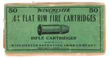 Scarce and Fine Box of Winchester .44 Flat Rimfire Cartridges
