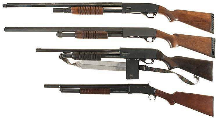 Four Slide Action Shotguns -A) Baikal Model MP-133 Shotgun