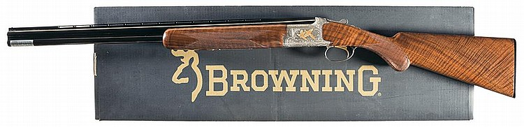 Engraved and Gold Inlaid Browning Grade 6 Citori Lightning