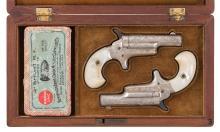 Pair of Engraved Colt Third Model Derringers