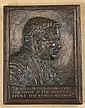 Bronze Plaque of Teddy Roosevelt, Georges Edward, Click for value