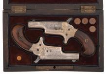 Engraved Pair of Colt Third Model Derringers