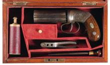 Allen & Thurber Concealed Hammer Percussion Pepperbox Pistol