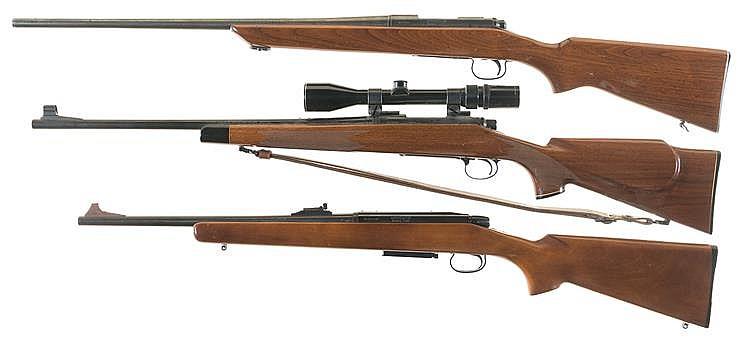 Three Remington Bolt Action Rifles A Remington Model 722 Rifle