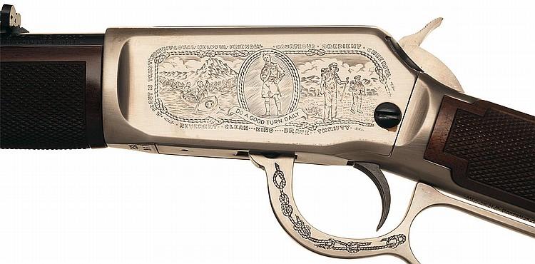 WINCHESTER FIREARMS 1985 Firearms Gun Catalog Boy Scouts BSA 75th Anniversary