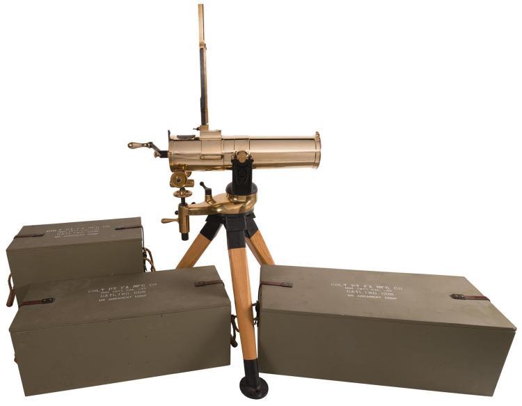 U S  Armament Corp  1877 Bull Dog Gatling Battery Gun