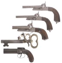 Five Antique Handguns